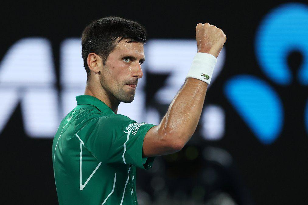 Novak Djokovic aceptó someterse al test de coronavirus