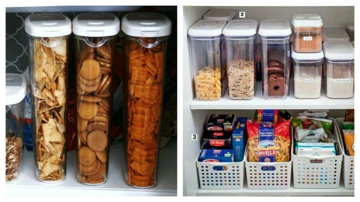 Tips para ordenar las alacenas de la cocina y que simplifiques tu vida