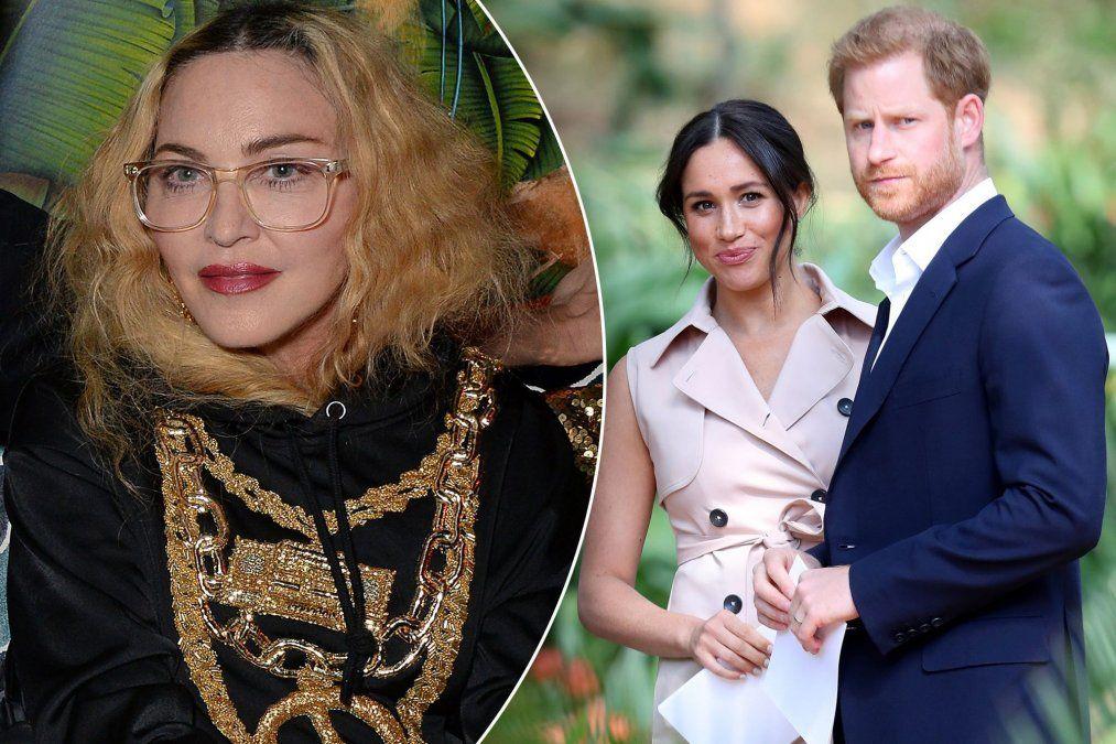 Madonna quiere como inquilinos al príncipe Harry y Meghan Markle
