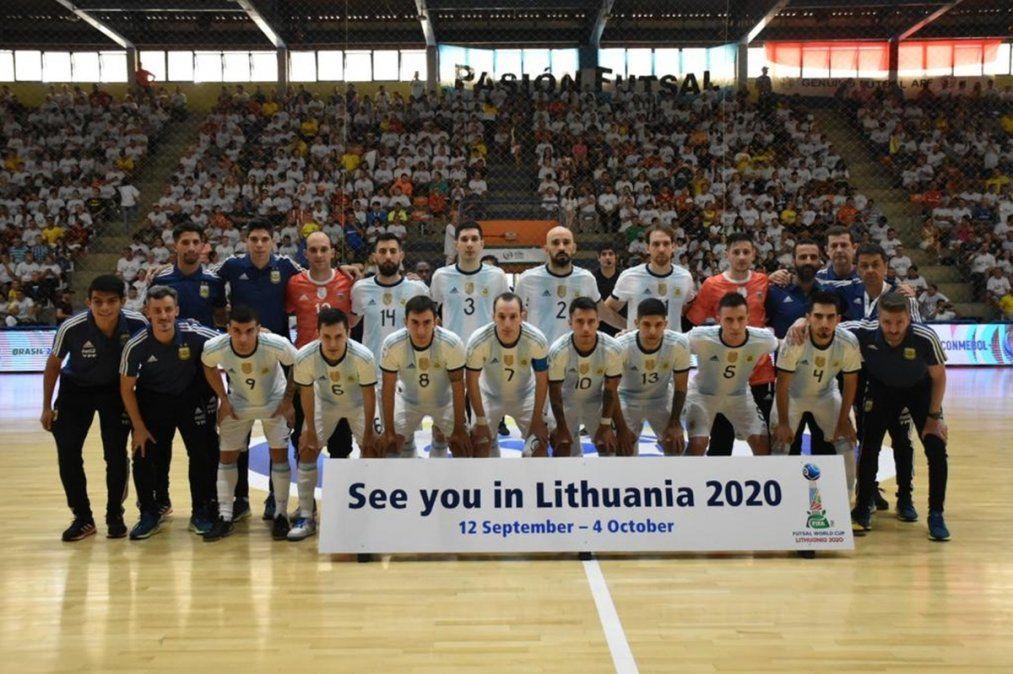 La Selección Argentina de futsal le ganó a Brasil y va al Mundial de Lituania