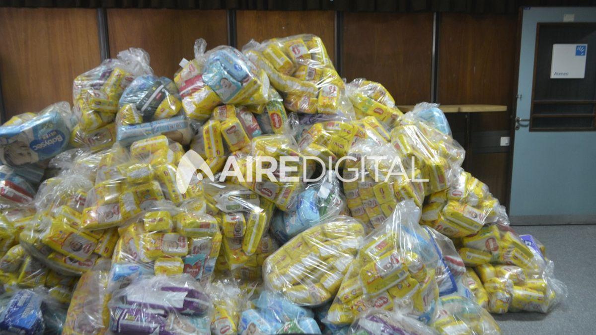 Entregaron 30.000 pañales donados en el Festival de Guadalupe
