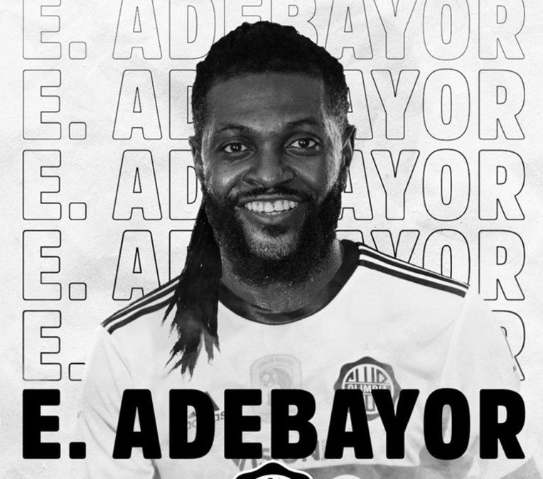 ¡Es oficial! Olimpia de Paraguay confirmó el arribo de Emmanuel Adebayor