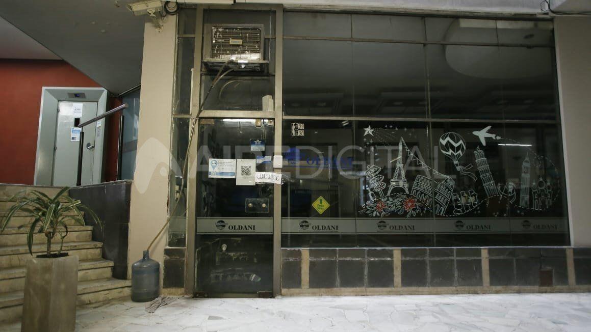El local donde ocurrióel golpe comando se encontraba cerrado este miércoles.