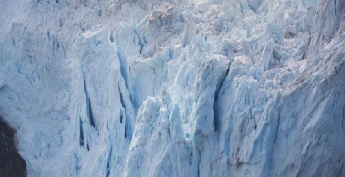 Apareció un escalofriante rostro en el hielo de la Antártida