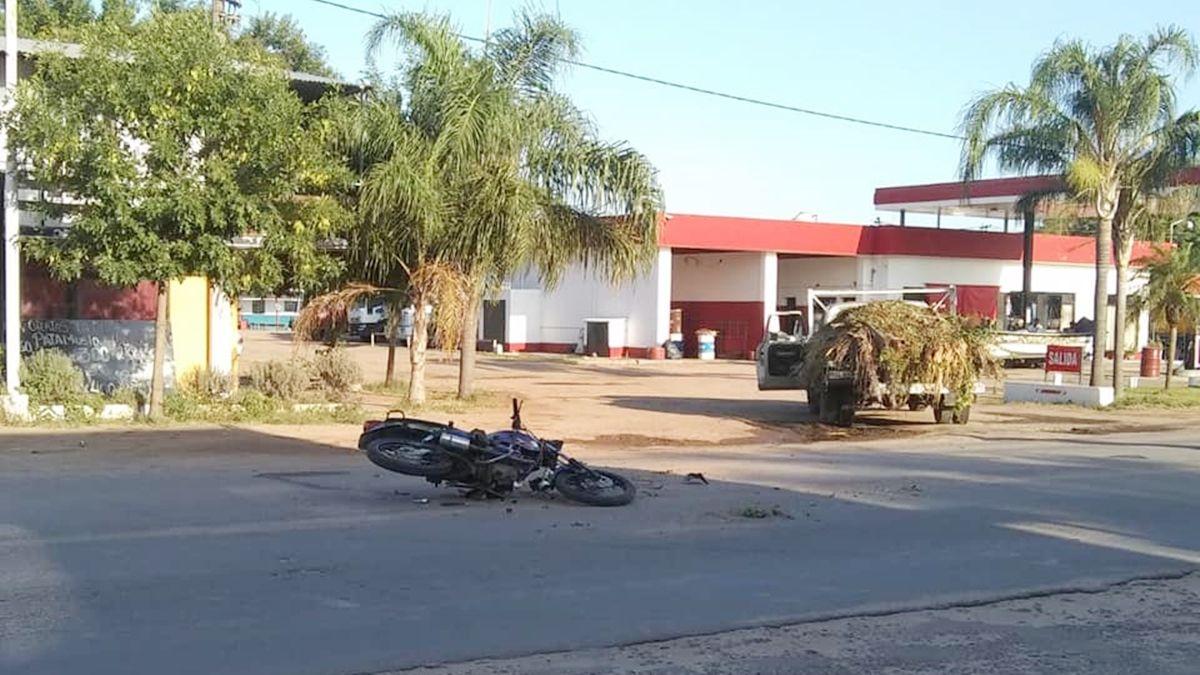 Un joven murió en Coronda tras accidentarse con su moto