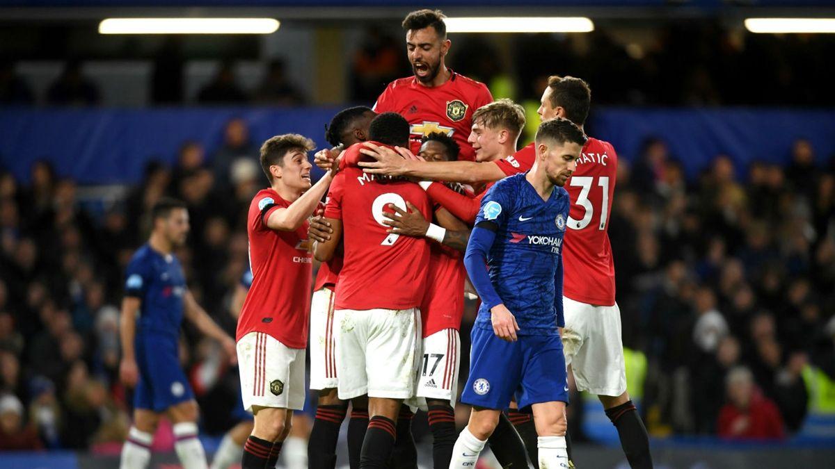 Manchester United venció de visitante a Chelsea
