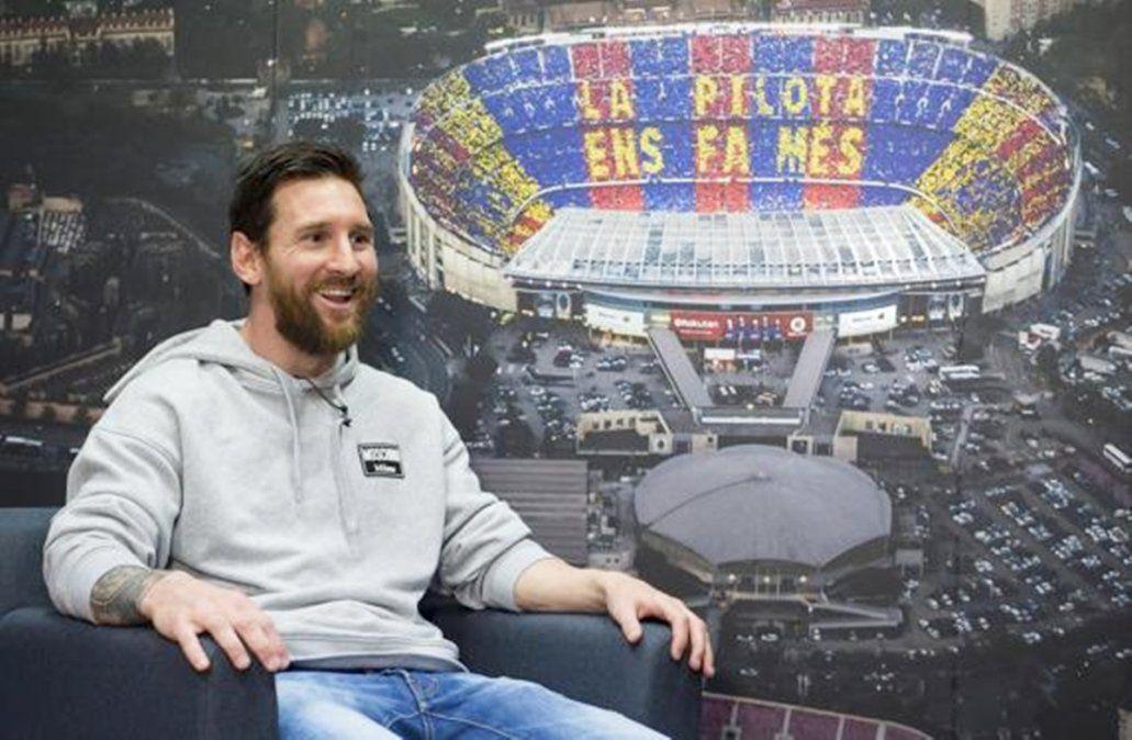Messi: No se me ocurre irme del Barcelona