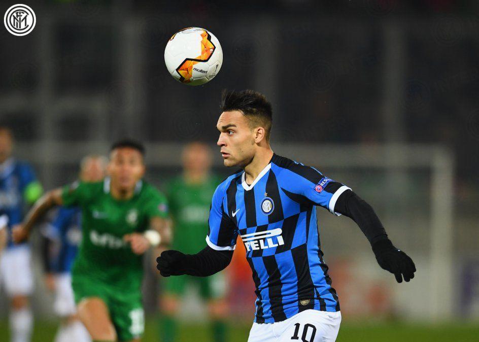 Con Lautaro Martínez, Inter ganó en Bulgaria por la Europa League