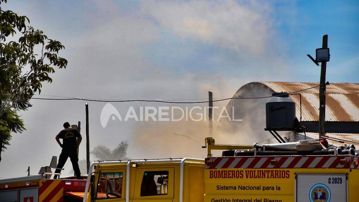 Incendio en un galpón de Cliba en el norte de la ciudad