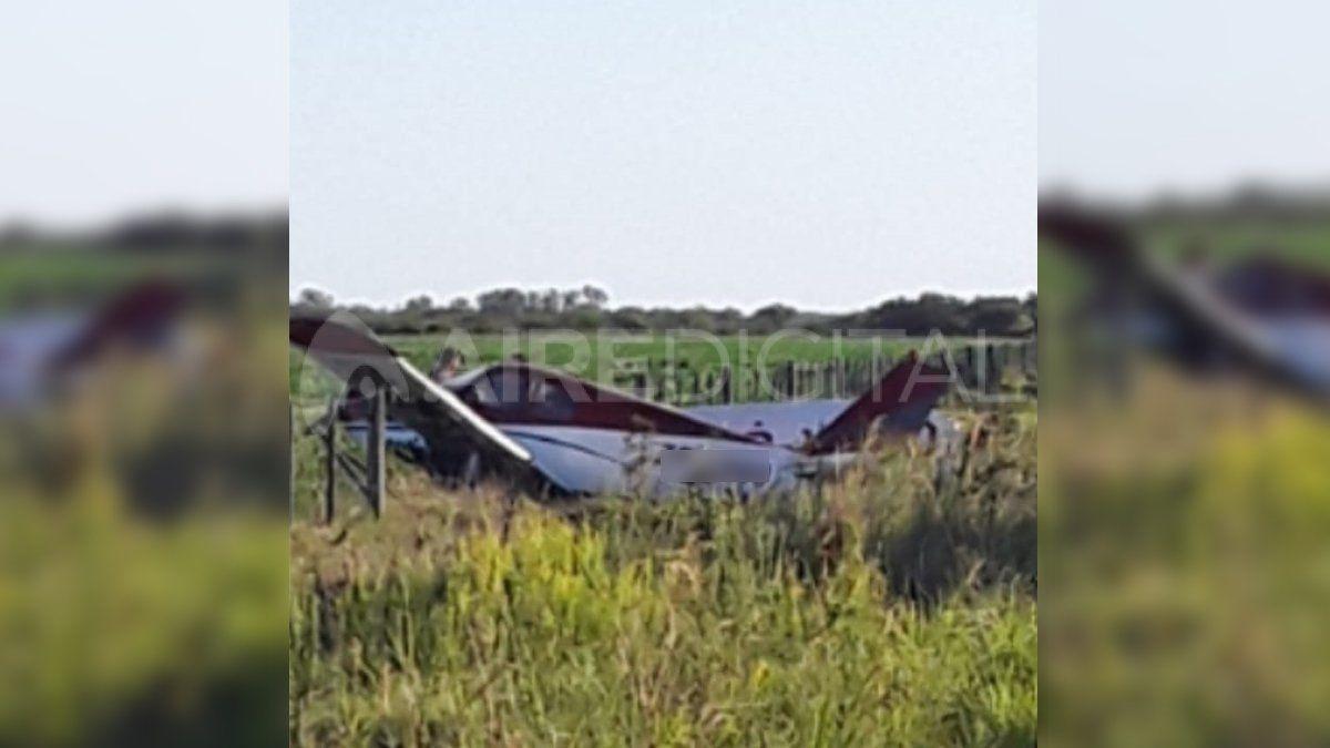 La aeronave estaba en un camino rural lindero a la ruta nacional 11.