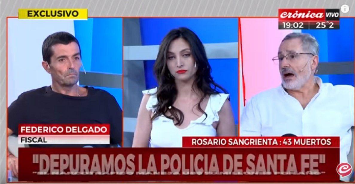 Sain participó del programa junto al fiscal Federico Delgado.