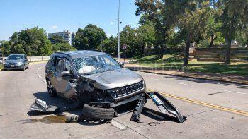Grave choque en Parque Sur: un bebé salió despedido por la ventanilla del auto