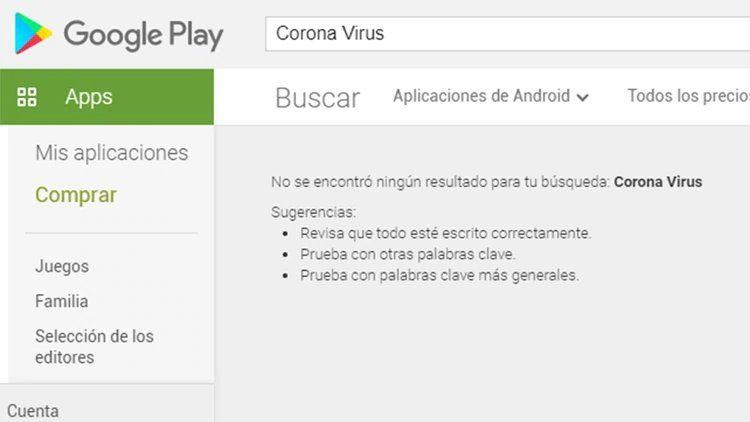 Suspendieron todas las aplicaciones sobre Coronavirus en Play Store