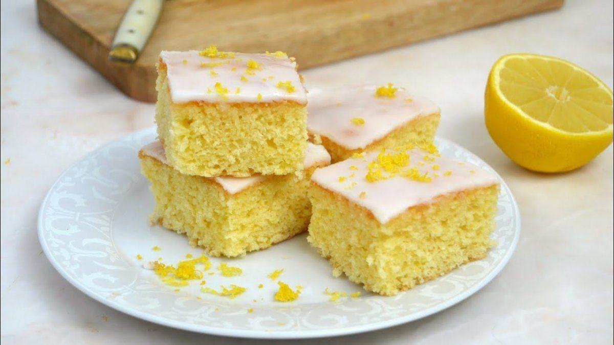 Brownies de limón.