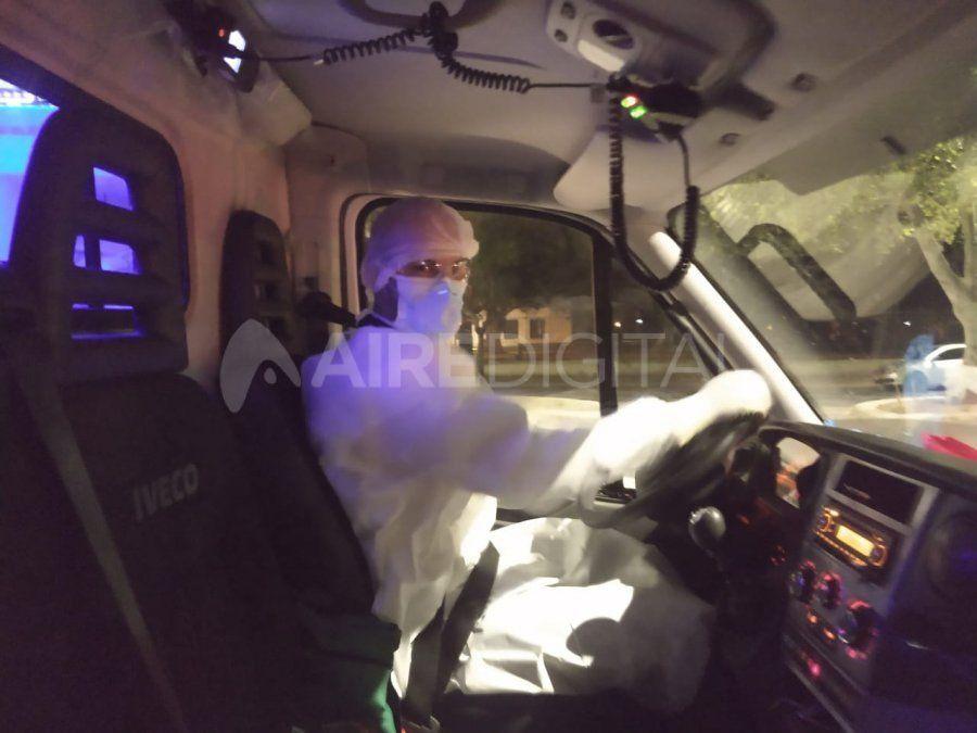 Los pacientes con síntomas de coronavirus llegaron al hospital en dos ambulancias diferentes desde la localidad de San Javier.