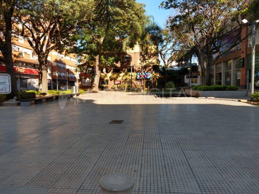 Así luce la Peatonal San Martín.