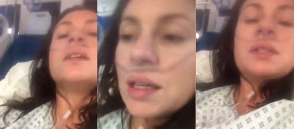 Una mujer con coronavirus grabó un video donde muestra cómo es padecer la enfermedad