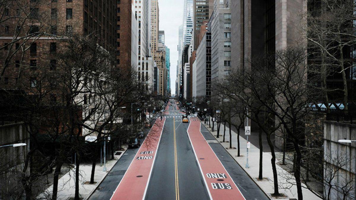 Calle 42 en la época del coronavirus. NYC.