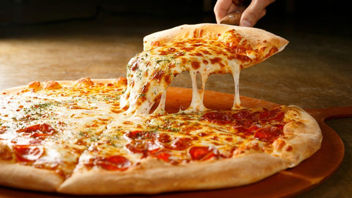 Pizza a la piedra.