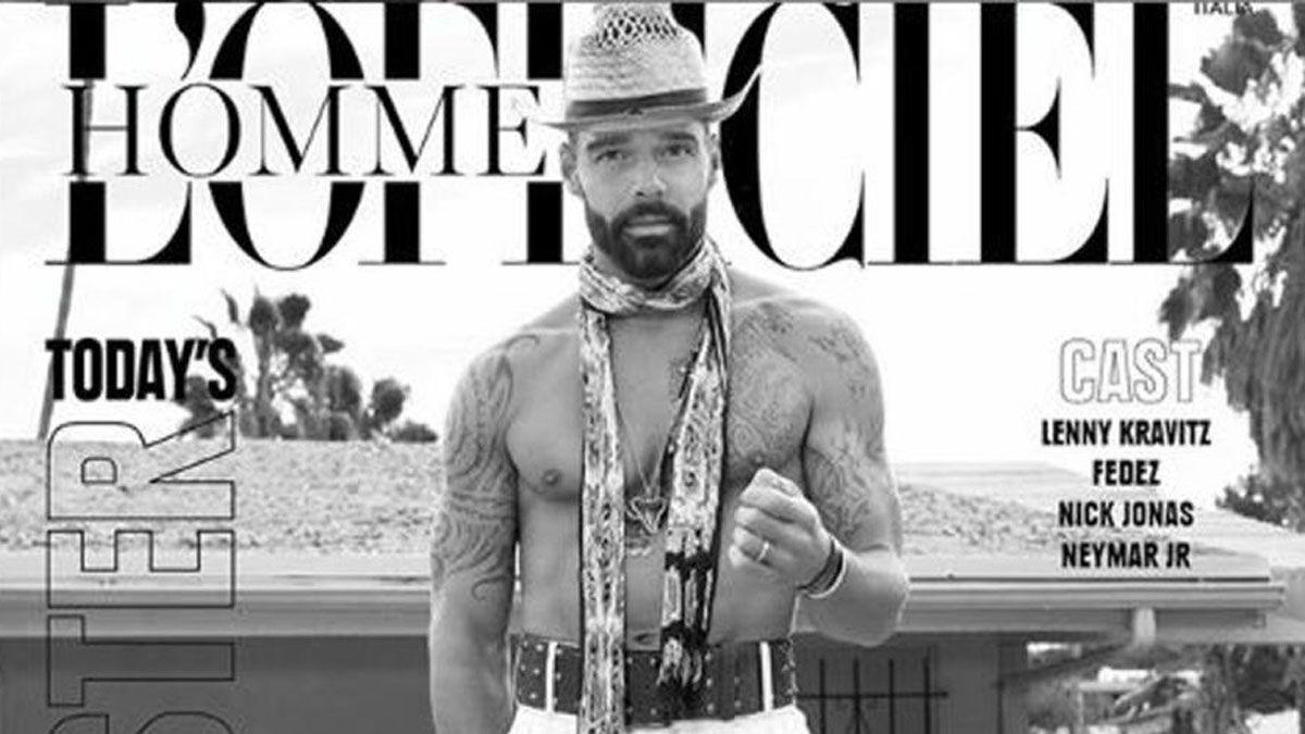 El cantante de 48 añosfue la portada deLOfficiel Hommes Italia