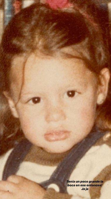Pampita era un calco de Blanquita cuando era pequeña.