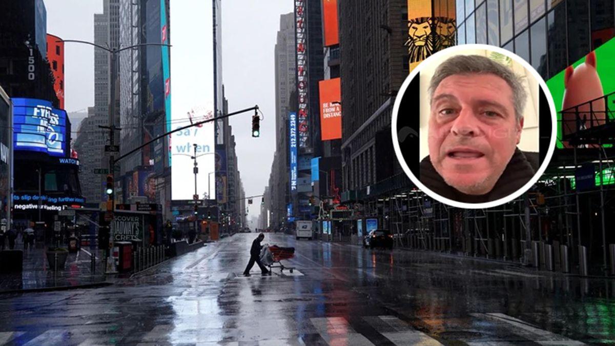 Cristian Nasellies uno de los testigos del horror que se vive en las calles de Nueva York. En exclusiva