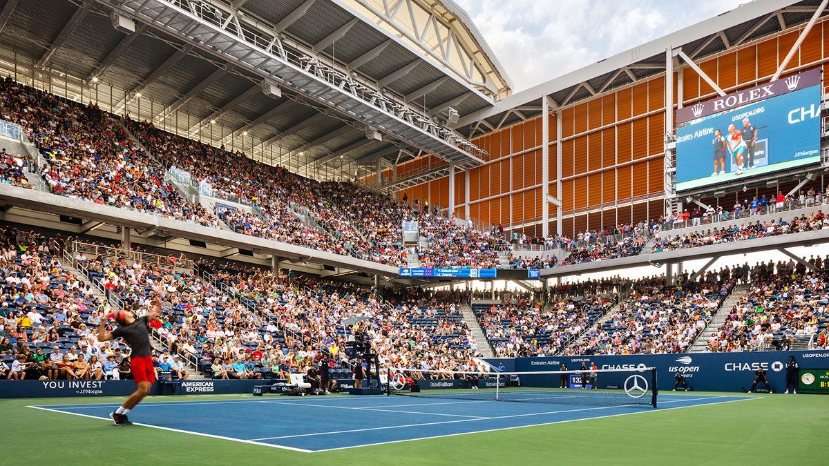 El estadio de tenis Louis Armstrong, donde se juega el US Open en Nueva York.