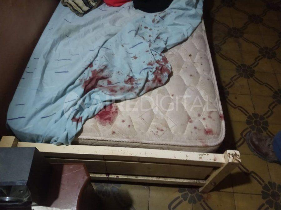 El cuarto de la mujer agredida