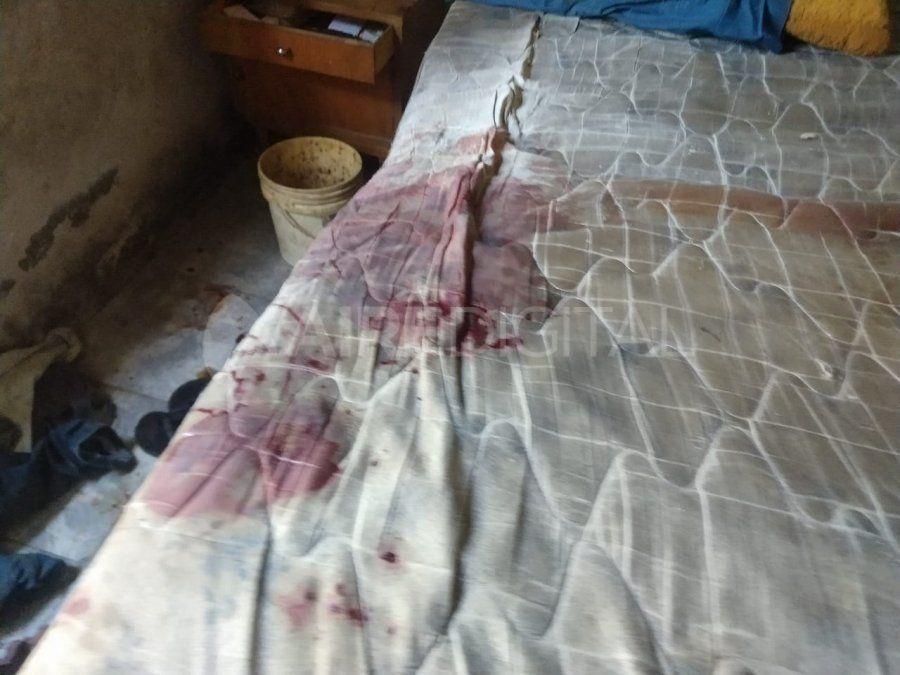 La habitación donde fue golpeada la mujer