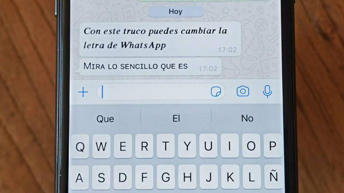 WhatsApp: cómo cambiar el tipo de letra de tus mensajes