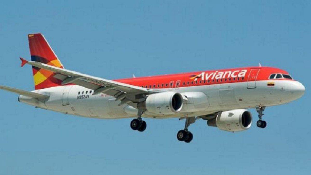 Un avión de la aerolínea colombiana Avianca