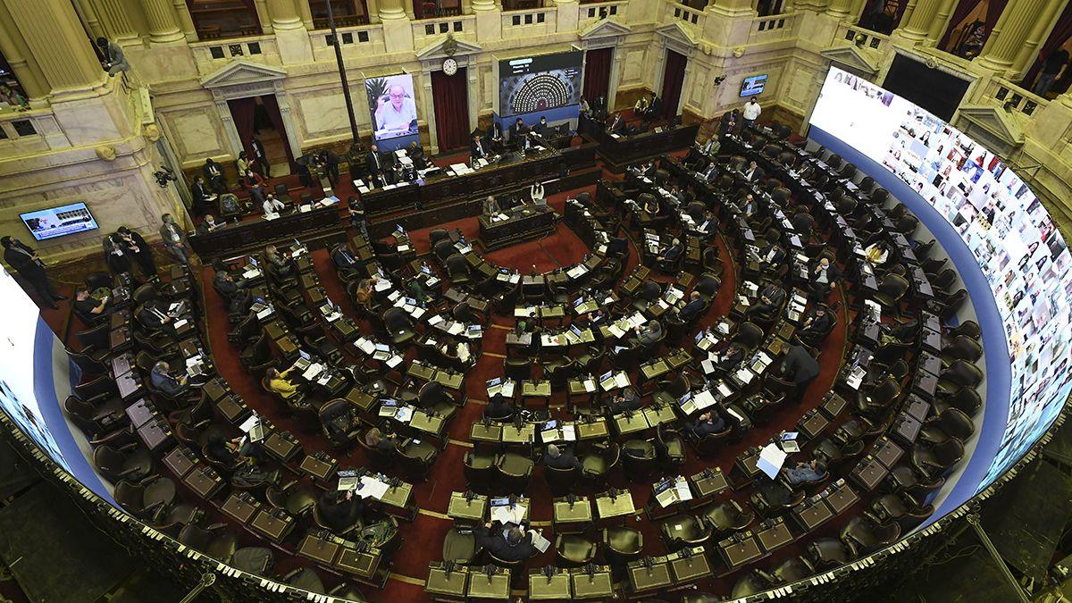 La Cámara de Diputados durante la primera sesión virtual de su historia.