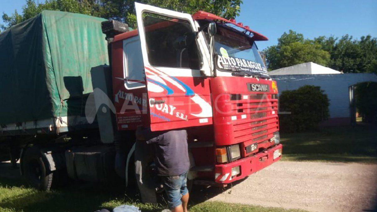 El camión que fue utilizado para transportar la droga.