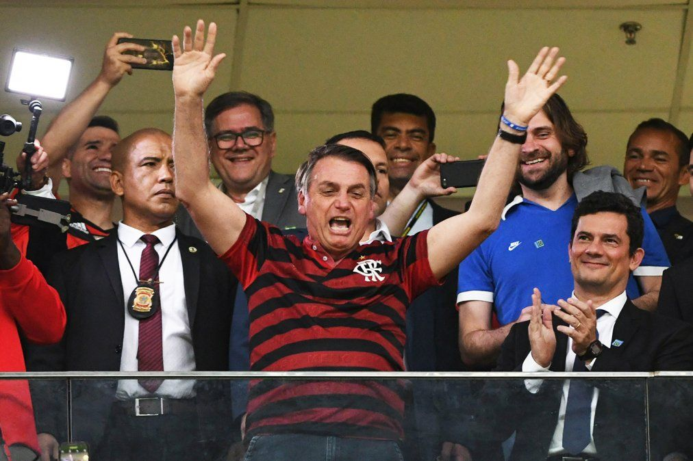 Jair Bolsonaro presenció la final de la Copa Libertadores 2019 entre Flamengo y River en Lima