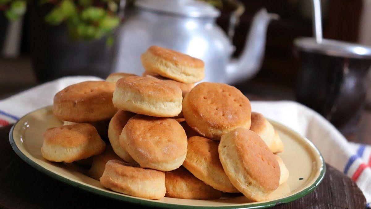 Bizcochitos de grasa para disfrutar con el mate de la tarde.