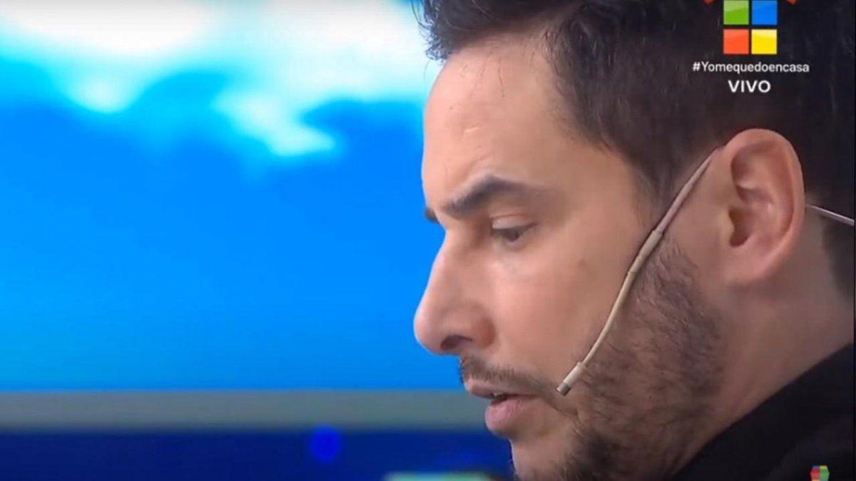 Rodrigo Lussich haciendo su descargo en Instrusos