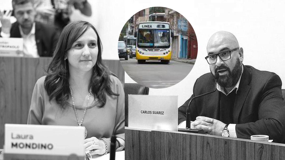 Los concejales Laura Mondino (FPCyS) y Carlos Suárez (UCR-Cambiemos) hablaron sobre la situación del transporte público.