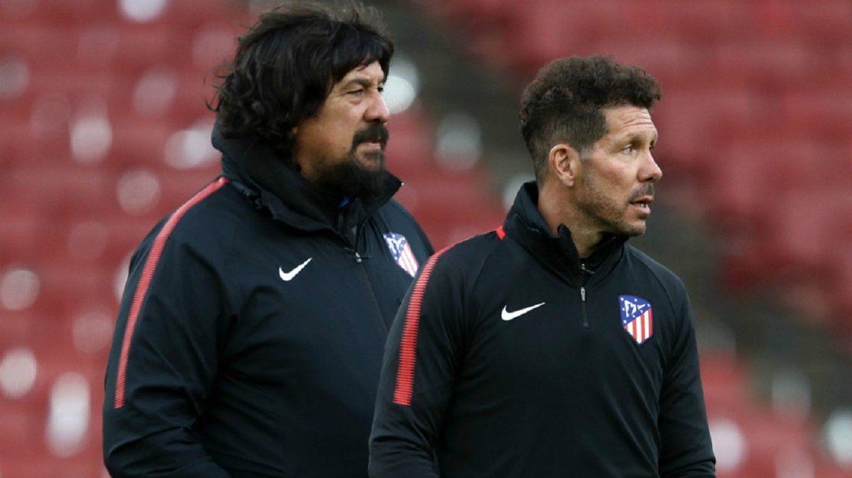 El Mono Burgos y el Cholo Simeone en el Atlético Madrid.
