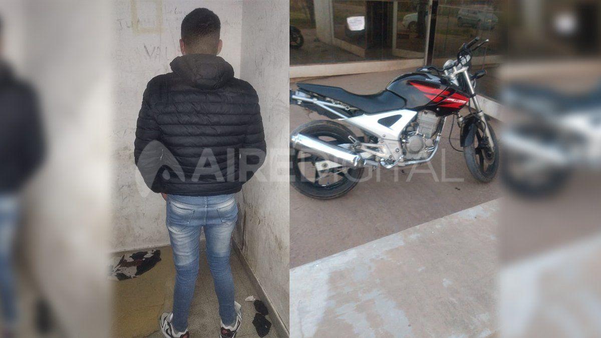 El joven de 22 años fue aprehendido por intentar vender una moto robada por facebook
