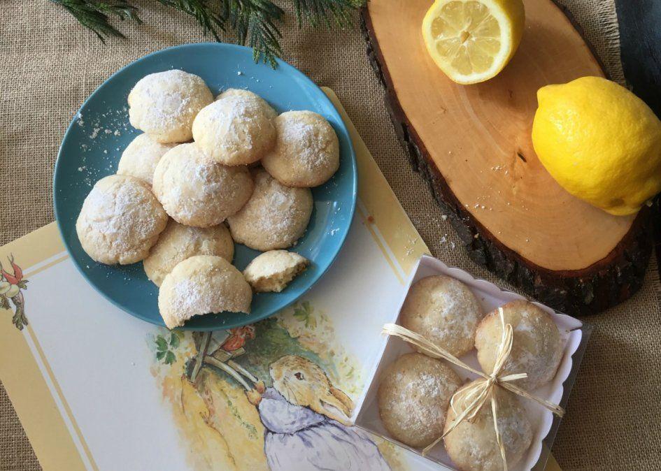 Masitas de limón con tres ingredientes.