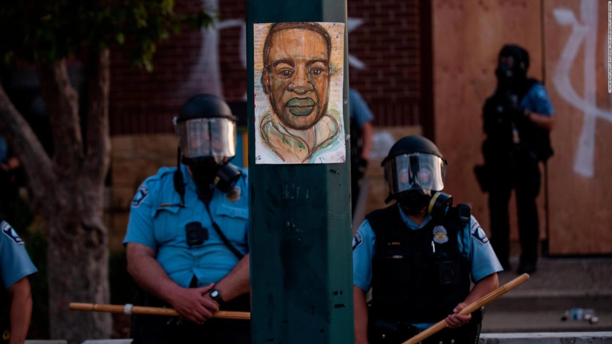 Manifestación por el crimen de George Flyd