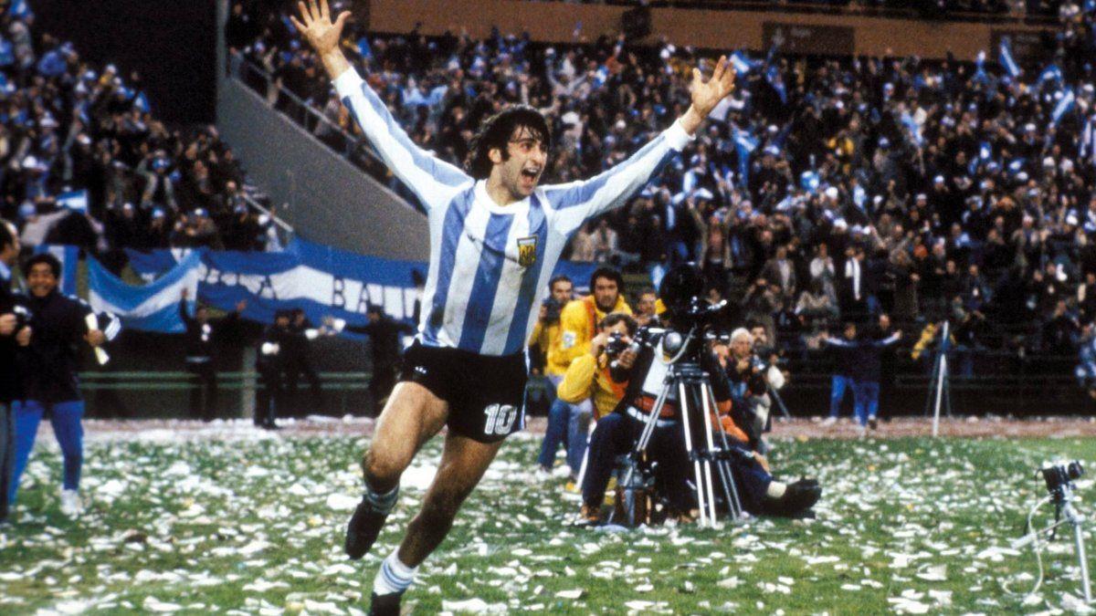 El Matador Kempes anotó 6 goles y fue el goleador del seleccionado albiceleste en el Mundial de 1978. Además fue el héroe en la final ante Holanda.