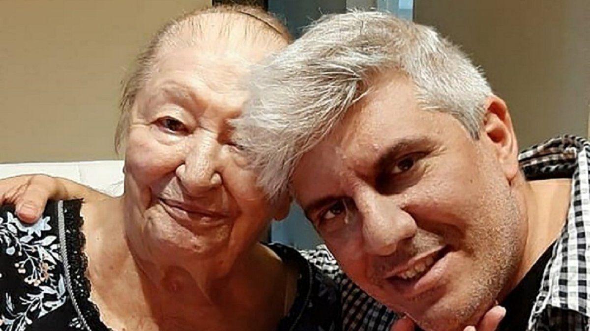Matías Bagnato junto a su abuela Norma
