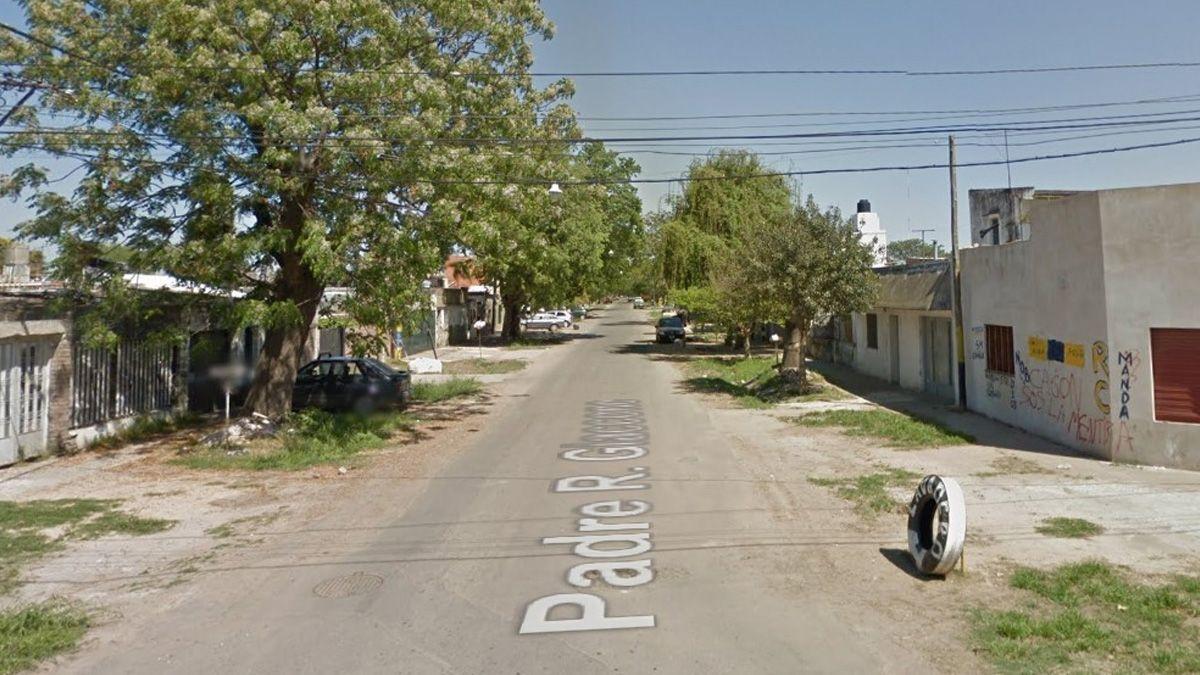 La calle donde asesinaron al joven en 2016