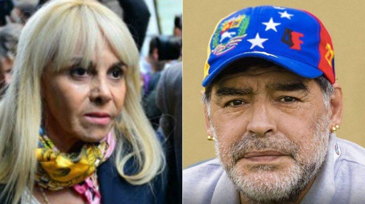 Claudia Villafañe contra la serie de Maradona