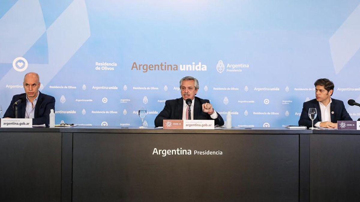 El presidente Alberto Fernández anunció la extensión de la cuarentena en localidades con circulación comunitaria.