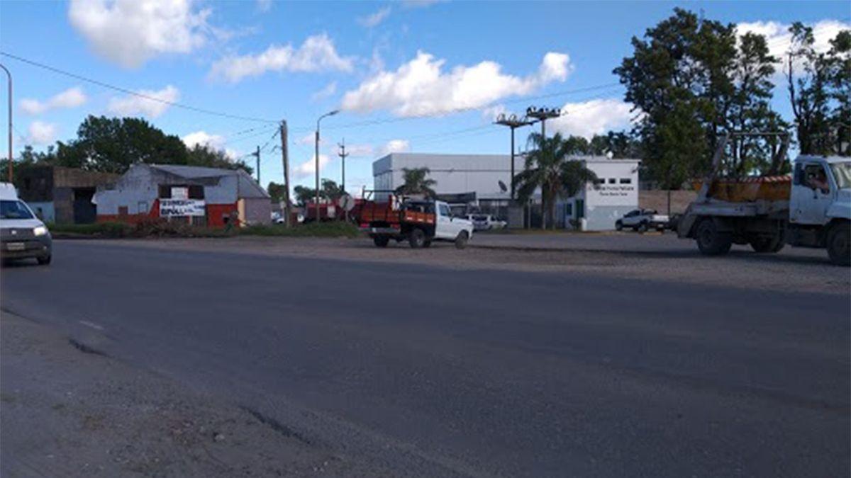 La zona donde asaltaron el camionero
