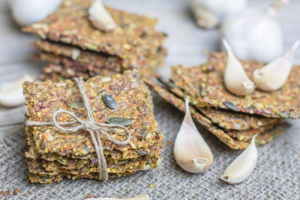Masitas crackers de semillas.