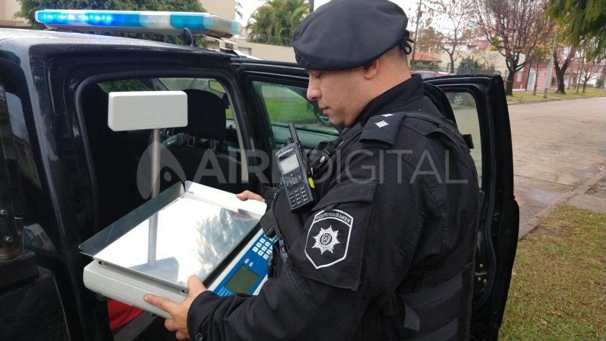Los policías recuperaron la balanza sustraída