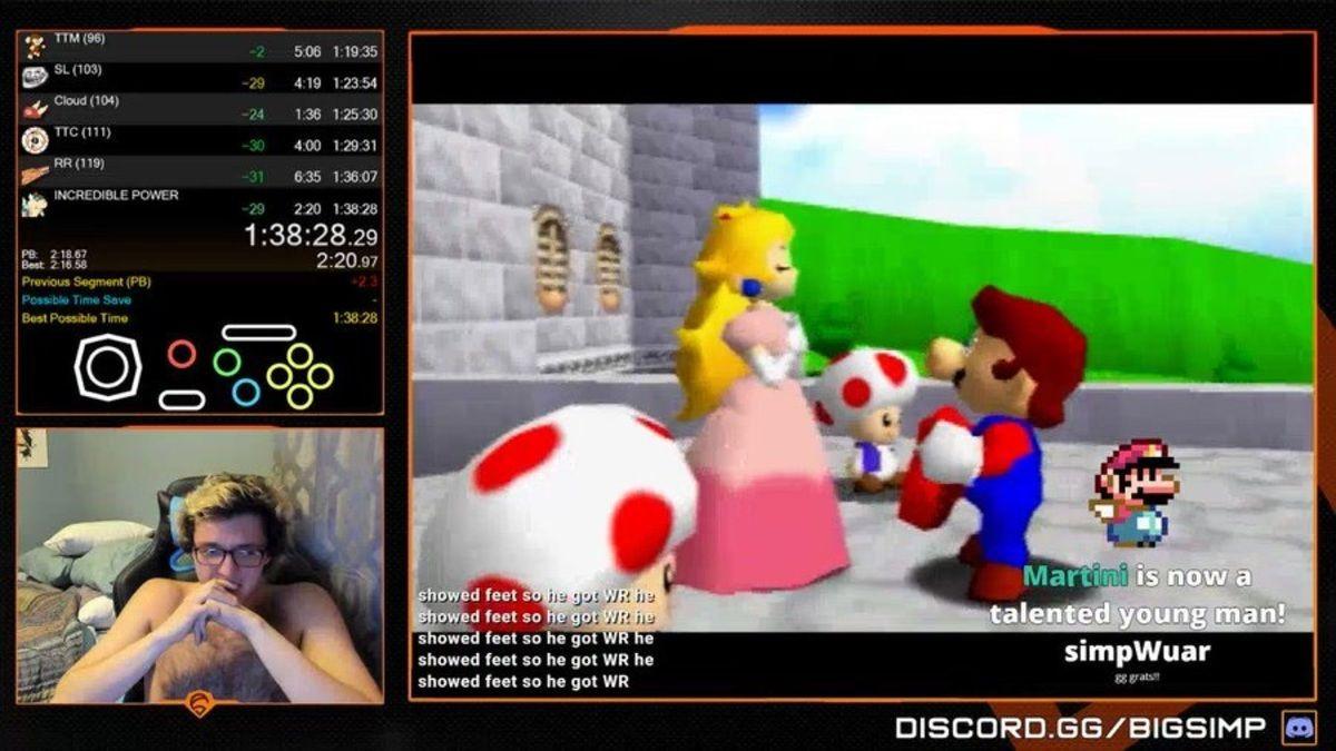Las lágrimas de emoción de un gamer al romper el récord mundial de Super Mario 64